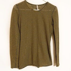 Free people intimately striped sheer long sleeve
